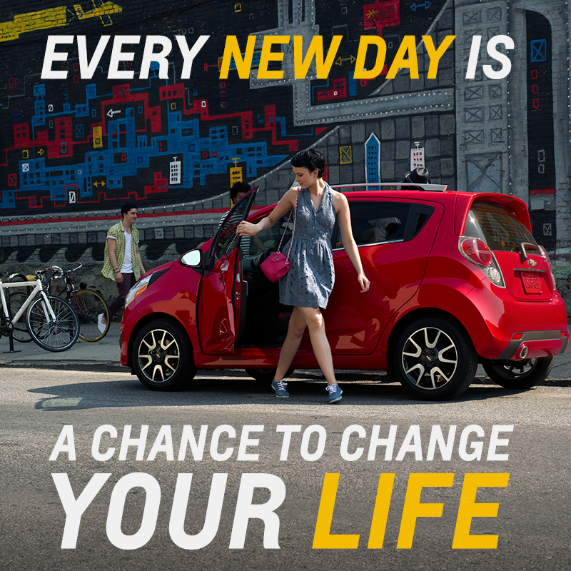 Every New Day Is A Chance To Change Your Life Quote Chevrolet Chevrolet Chevrolet Spark Chevy