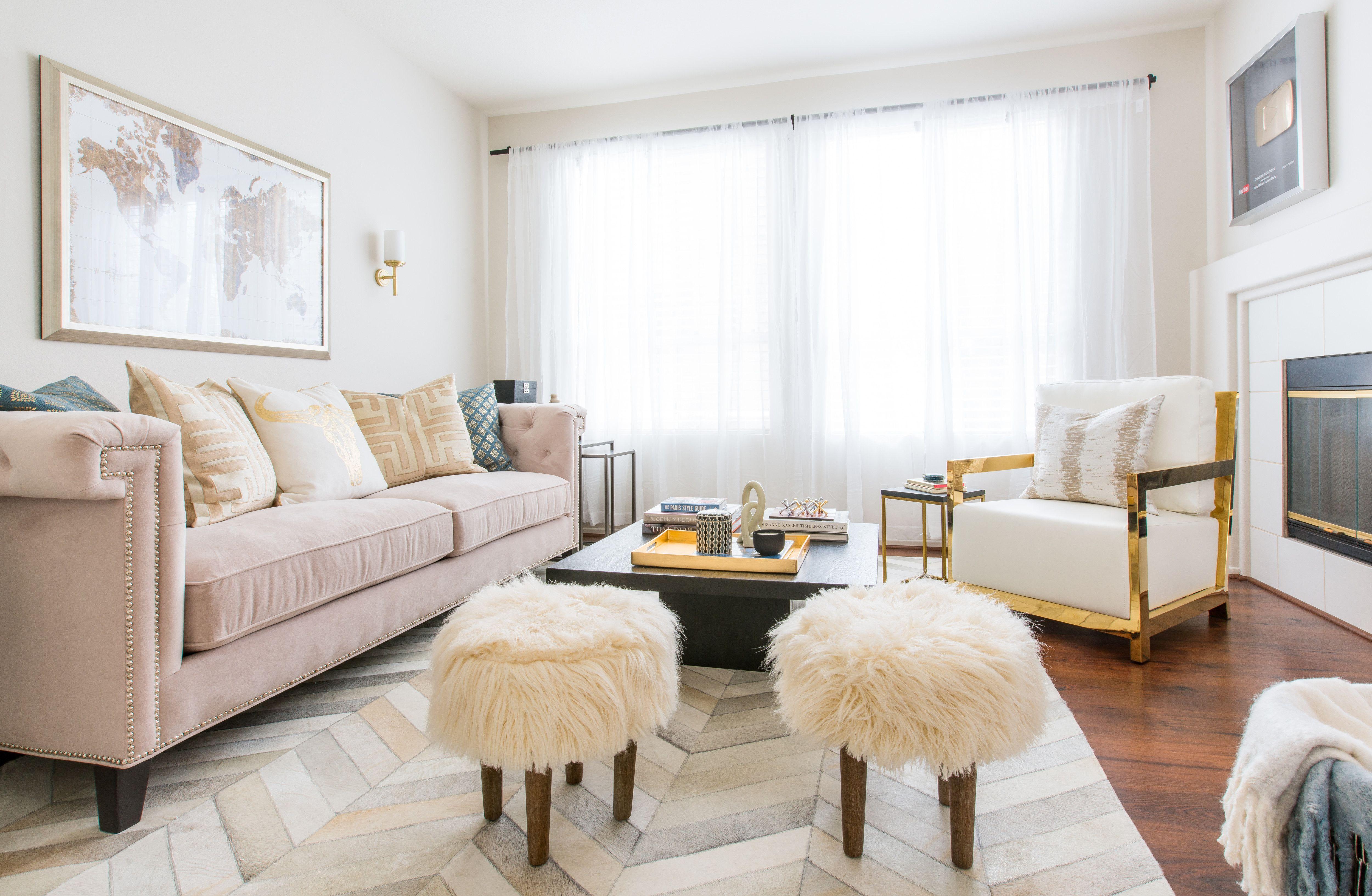 VIDEO: YouTube Star Desi Perkins\'s Living Room Makeover | Living ...