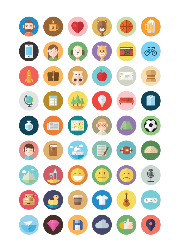Check out 50+ Illustrated Flat Icons by chirtes.bogdan on