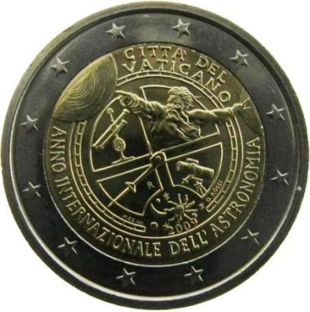 """Moneta Celebrativa """"Anno internazionale dell'astronomia"""" Anno: 2009 Stato: Città del Vaticano"""
