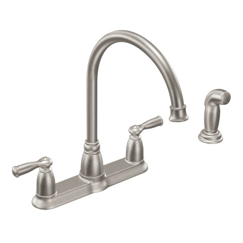 Moen CA87000 High-Arc Kitchen Faucet with Side Spray from the ...