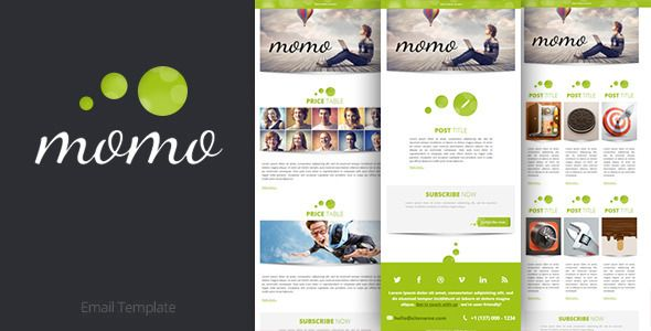 Momo Email Template Emails, letters Pinterest Green - marketing email template