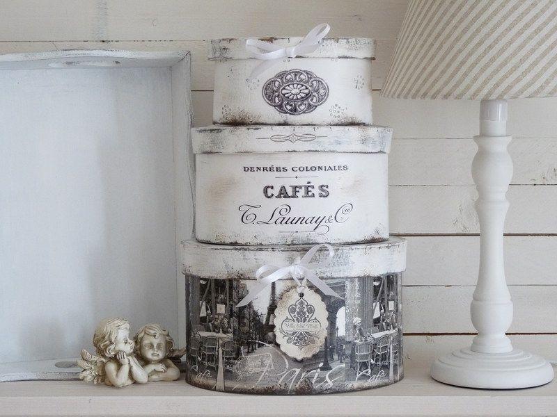 Wohnaccessoires Vintage vintage boxen set cafe shabby chic boxen sets