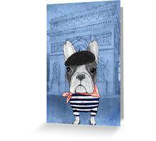 프렌치와 개선문 (Arc de Triomphe) 인사말 카드