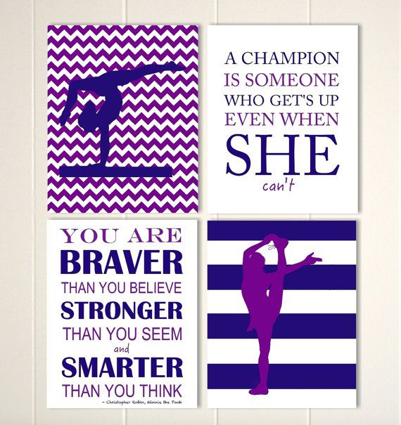 Gymnastics Wall Art, Girl Gymnast, Cheerleader Wall Art