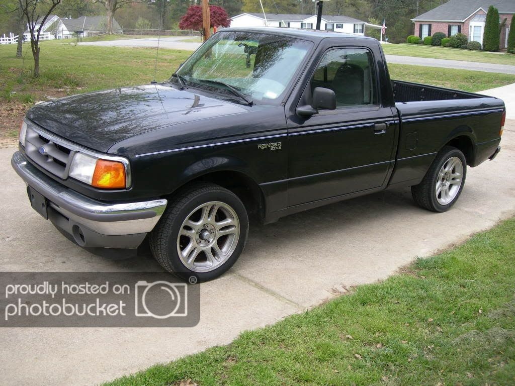 Ford Ranger With Mustang Wheels In 97 Ford Ranger Picapes Caminhonetes Carros