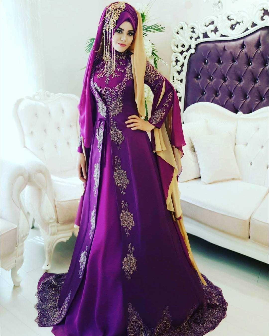 Hijab wedding gown - hijab bridal wear-purple hijab-beautiful hijab ...