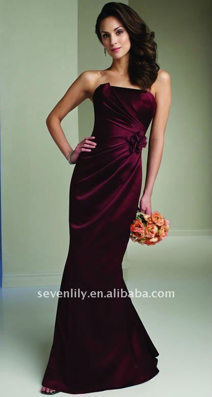 Image detail for wine color mermaid bridesmaid dresses for Wine colored wedding dresses