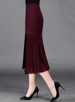 709296835af9 Skinny Asymmetric Patch Solid Color Skirt   Faldas   스커트