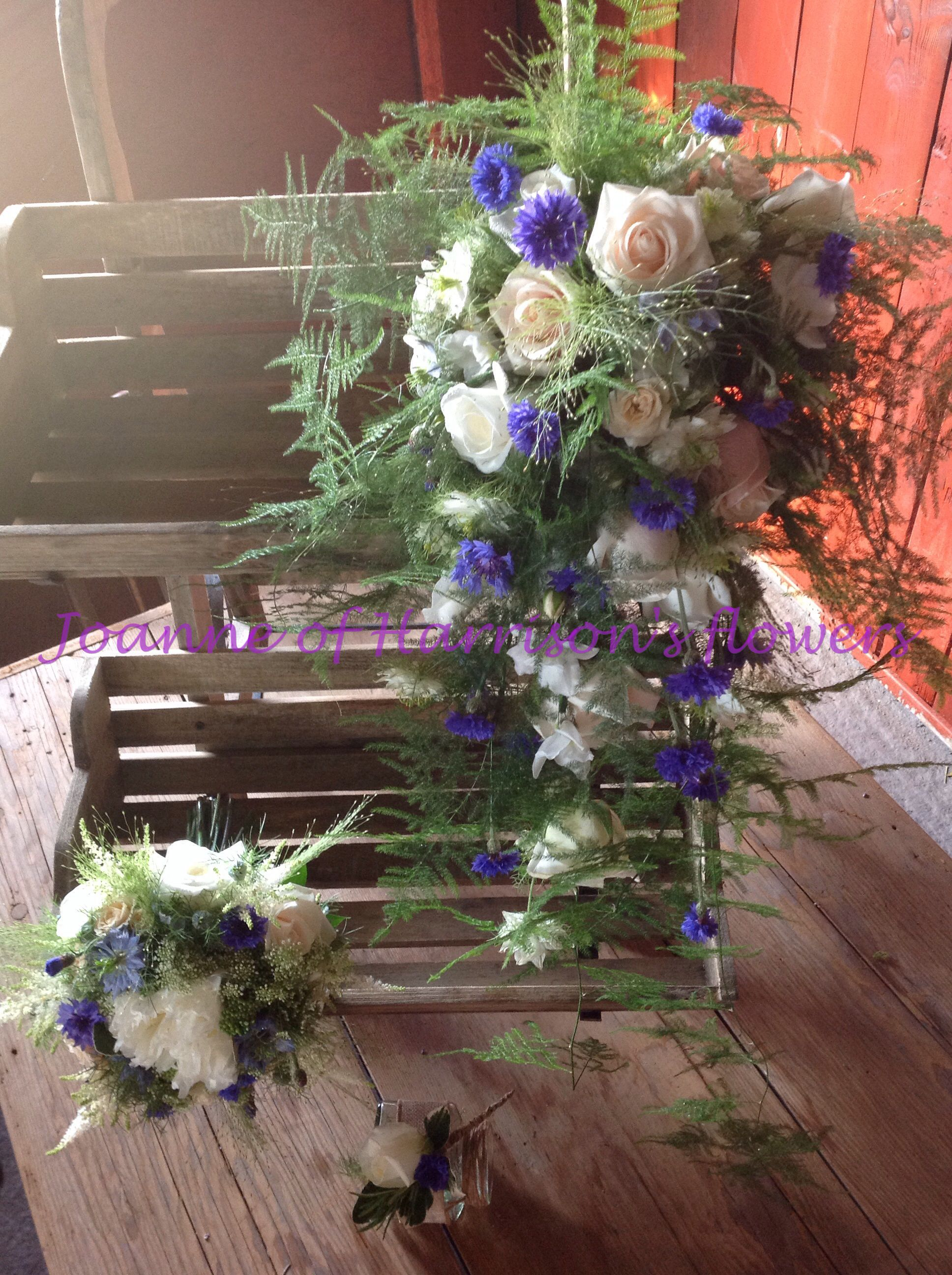 Wild, rustic bridal bouquet and posy..perfect summer