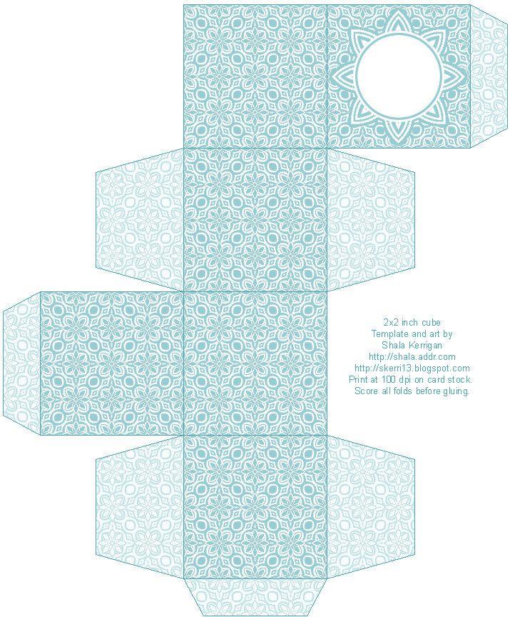 2x2_lacy_teal.jpg 715×864 pixels | Box template printable ...