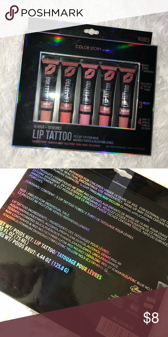 Color Story 10 Hour Lip Tattoo Set Nudes Never Opened The Perfect