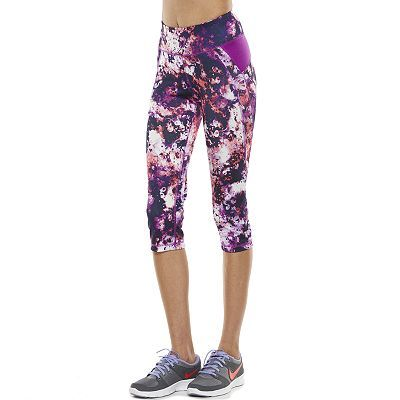 12048afdd5 Women's Tek Gear® Printed Yoga Capri Leggings | My Style | Yoga ...