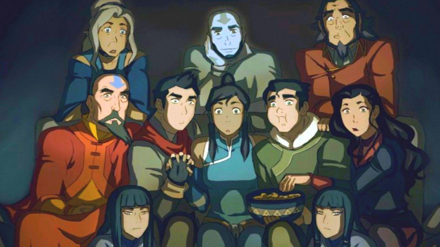 A Lenda De Korra Acabou De Novo Avatar Airbender Avatar Aang