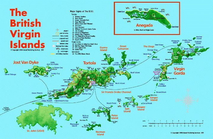 British Virgin Islands Map With Images British Virgin Islands