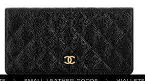 Chanel foldover wallet