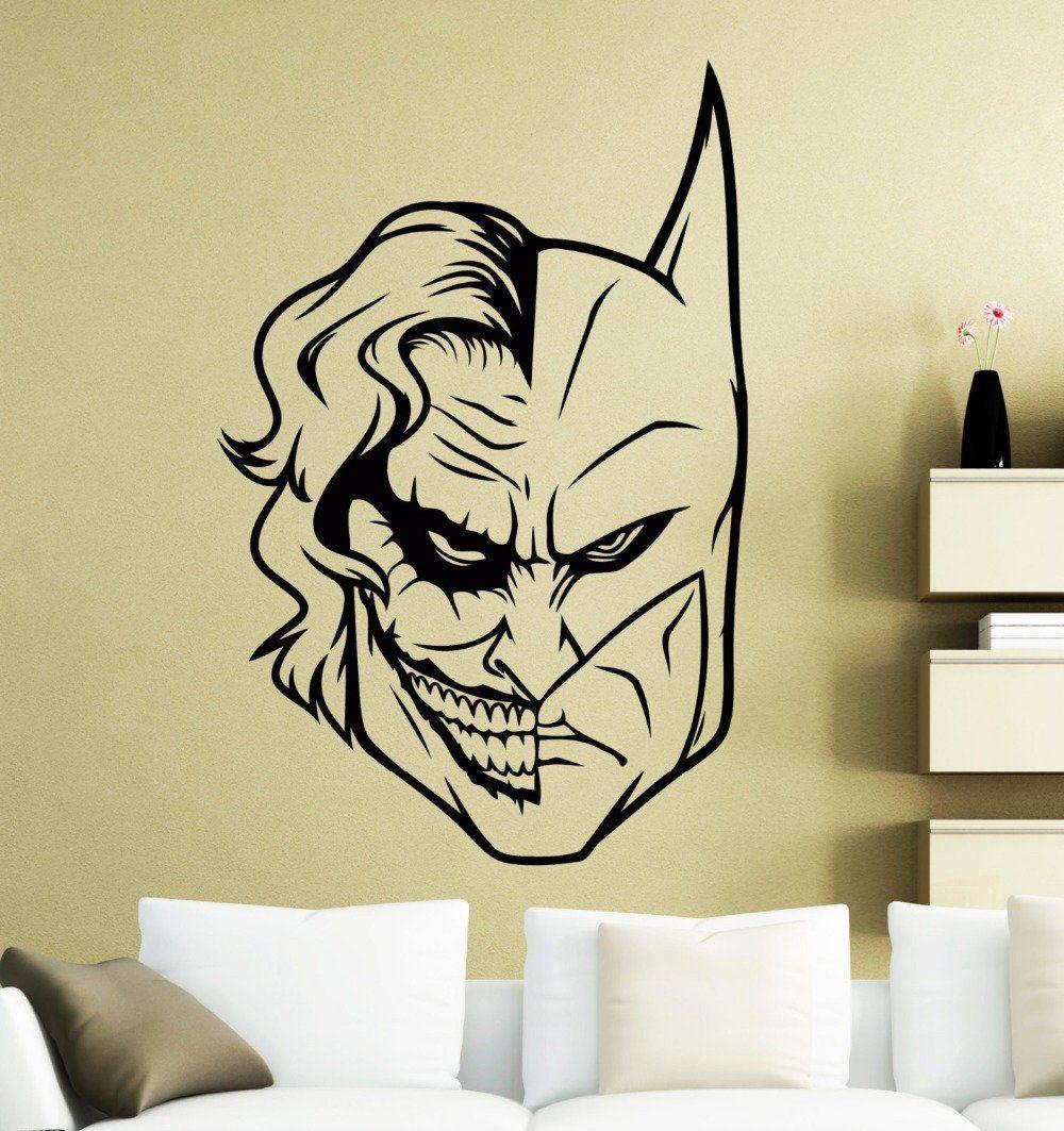 DC Marvel Comics Wall Decal Superhero/Antihero Vinyl Wall Sticker ...