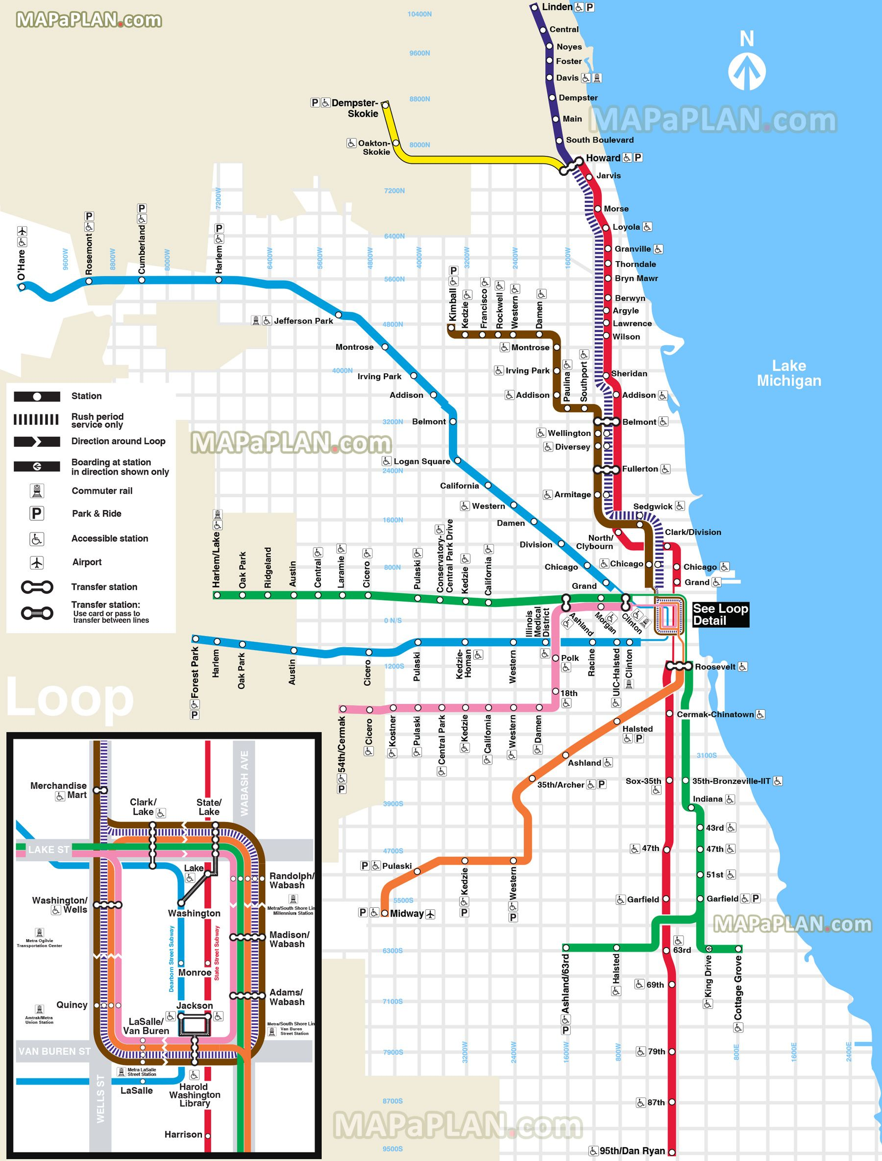 chicago transit map | Travel | Chicago, Chicago travel, Chicago map