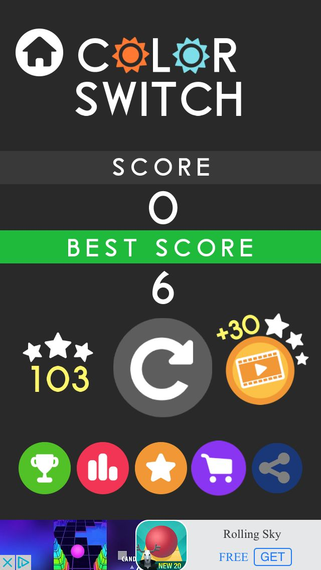 I got 0 points in Color Switch Slime #colorswitch ! Play with me