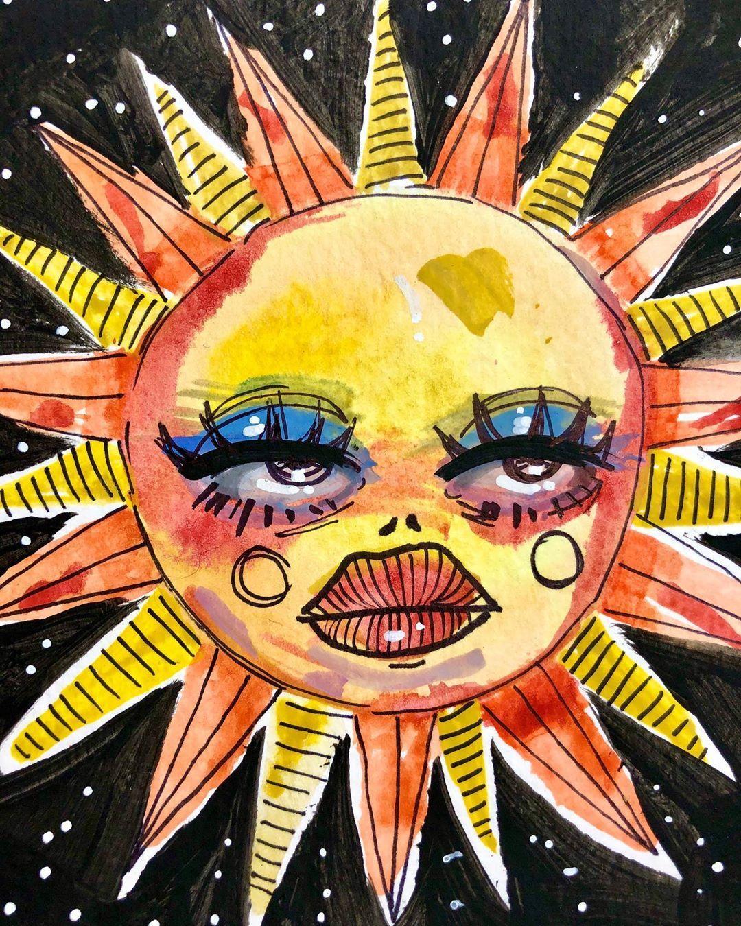 Megz On Instagram A Little Tiktok Art Challenge Artbymegz On Tiktok Hippie Painting Hippie Art Art