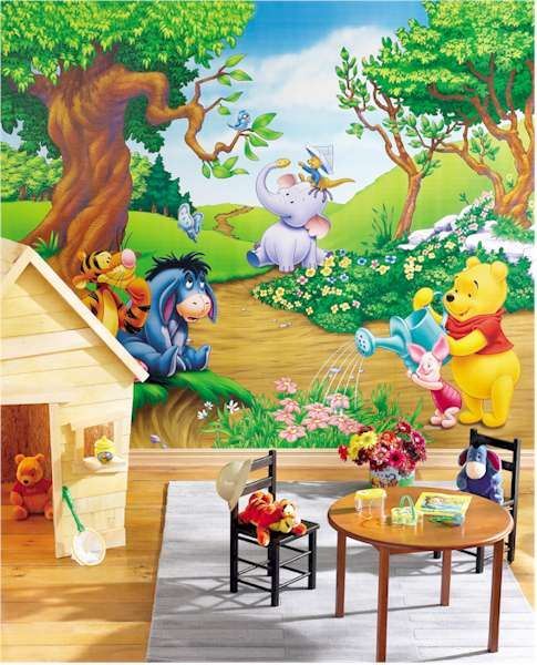 Art  Kids Hundred Acre Picnic Winnie The Pooh Wall Art