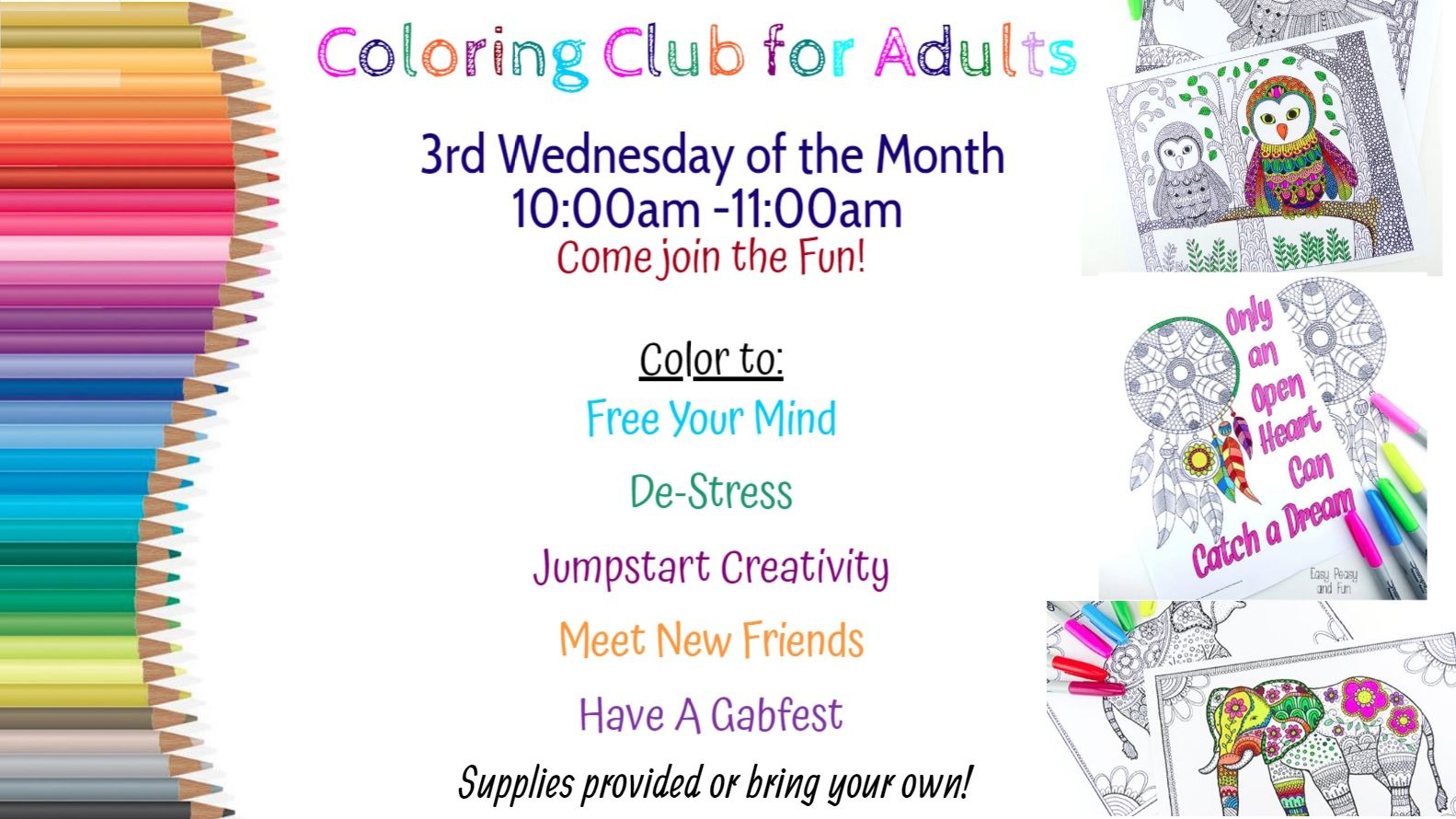 Coloring Club @ Community Room
