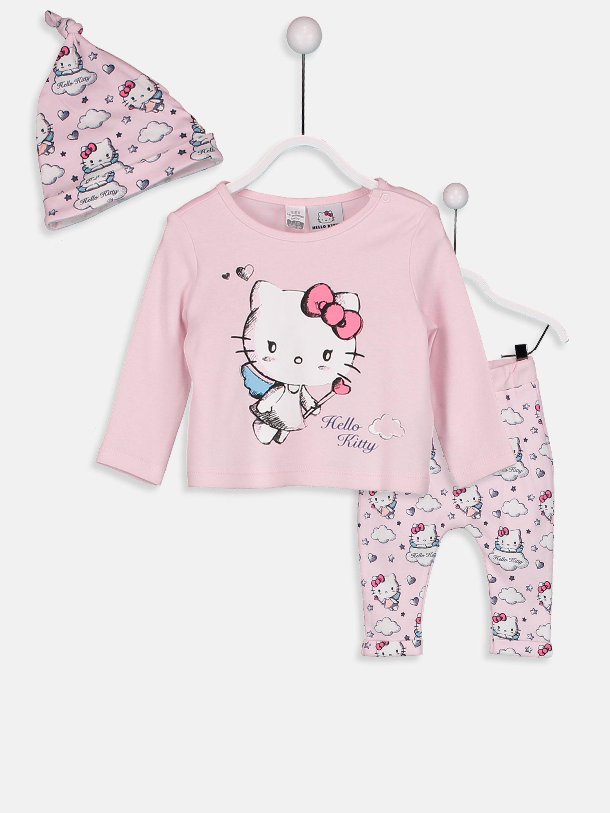 75cefda8da3 Hello Kitty Baskılı Kız Bebek Takım 3'lü -8W0104Z1-JPW - LC Waikiki ...