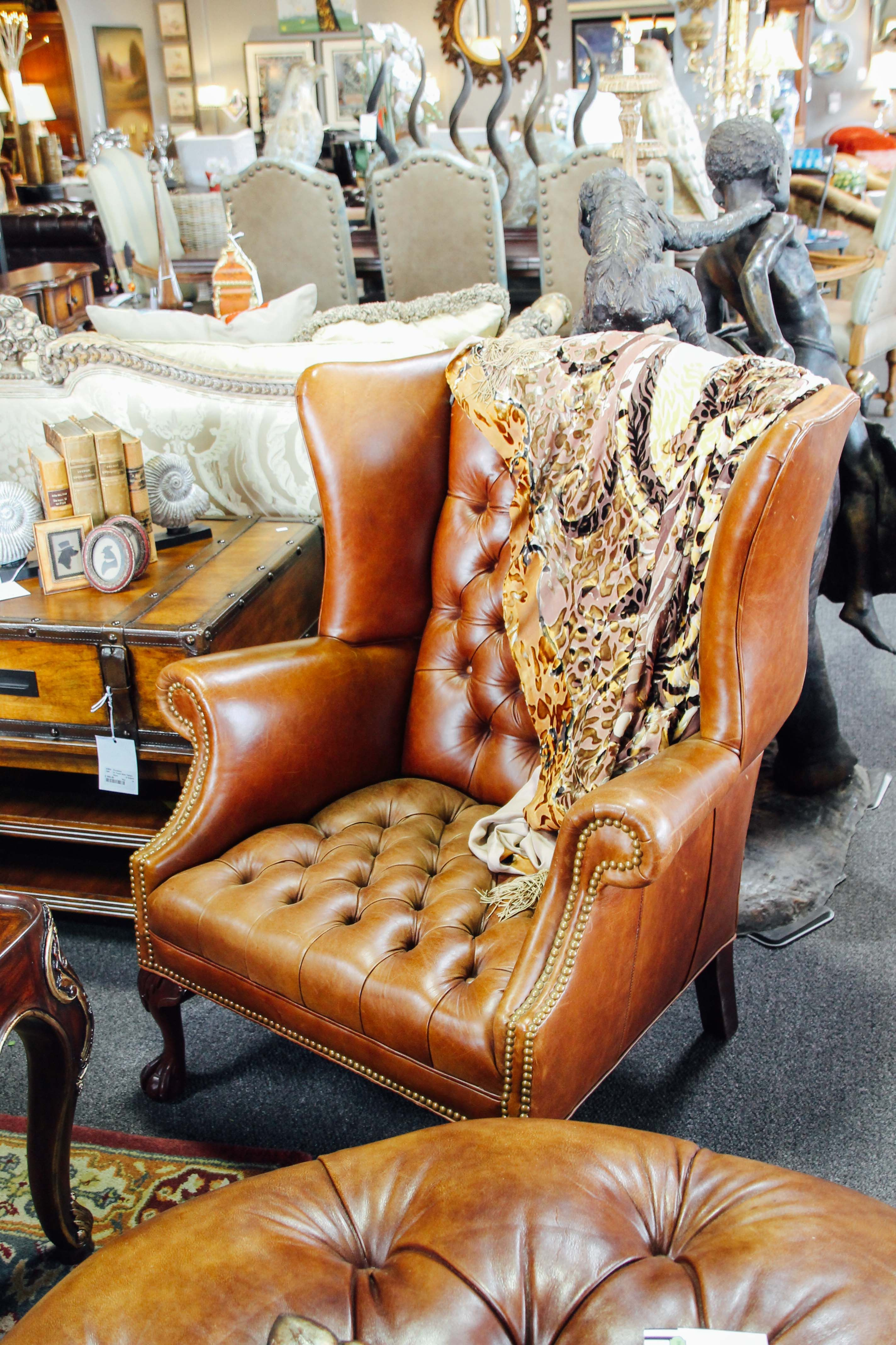 Best Cognac Leather Accent Chair For A Living Room Found At 400 x 300