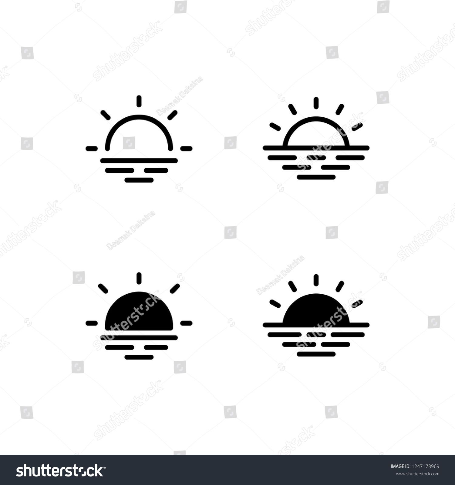 sunrise icon design sunrise sunset sunlight sunshine morning icon logo vector symbol set sign design butto sunrise logo sunset logo sunset tattoos sunrise icon design sunrise sunset