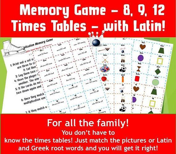 Printable Maths Games for 10 year olds / Kids Game Cards/ | Kids ...