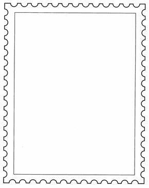 Postage Stamp Template Postage Stamps Postage Stamp Art Stamp
