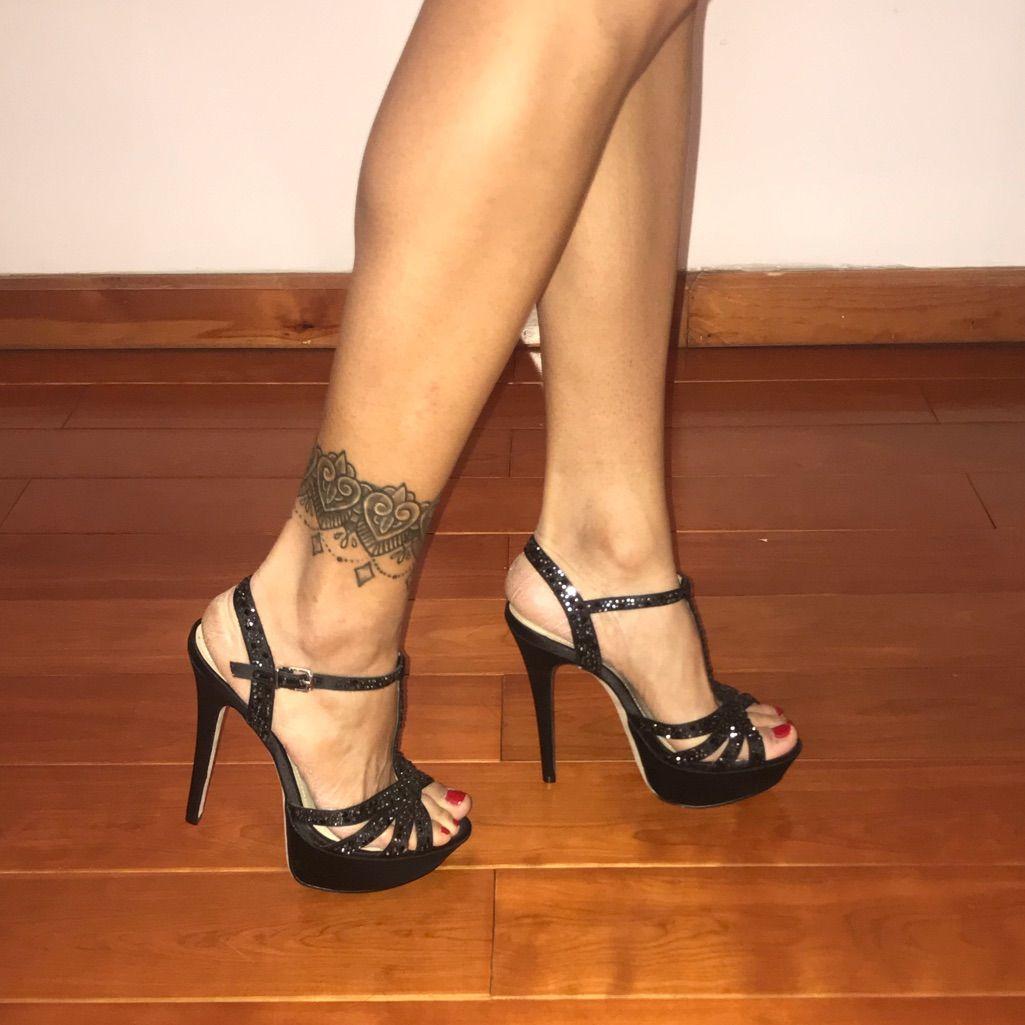 aldo black platform heels