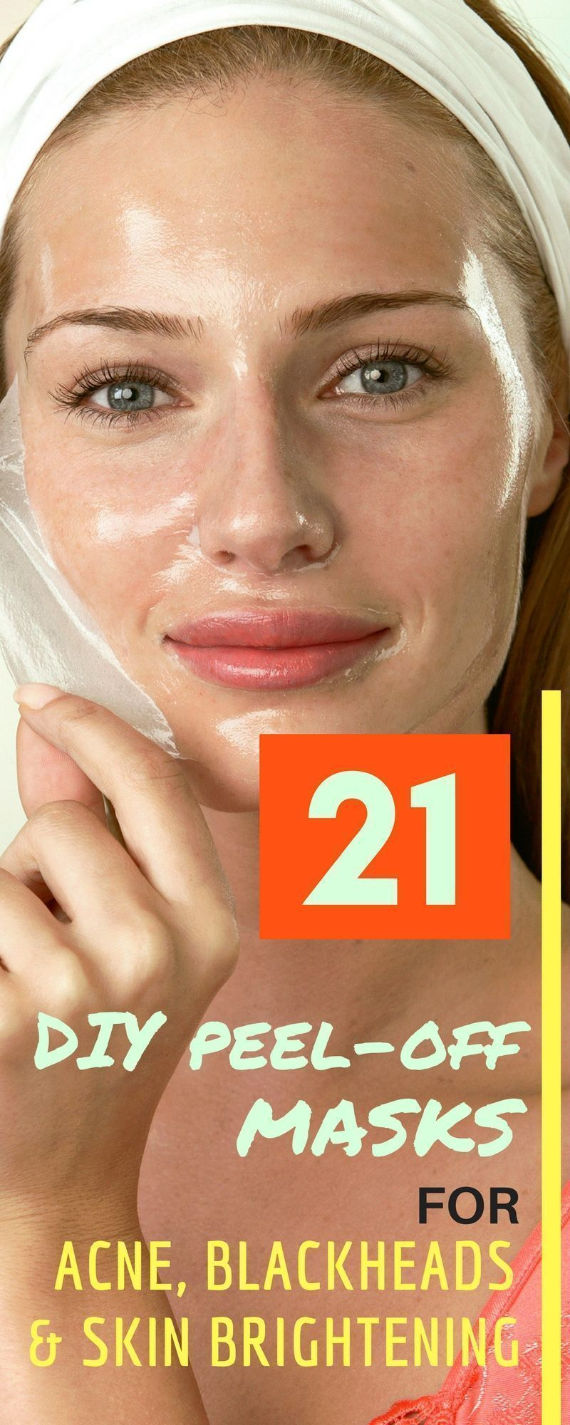 21 DIY Peel Off Face Masks For Blackheads, Acne and Skin Brightening #DIYFaceMas…