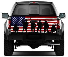 THIN RED LINE AMERICAN FLAG FIREFIGHTER PICKUP TRUCK REAR WINDOW DECAL TENT