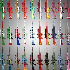 Sniper Weapon MK12SPR 50 Skins #Weapon, #Sniper, #MK12SPR, #Skins