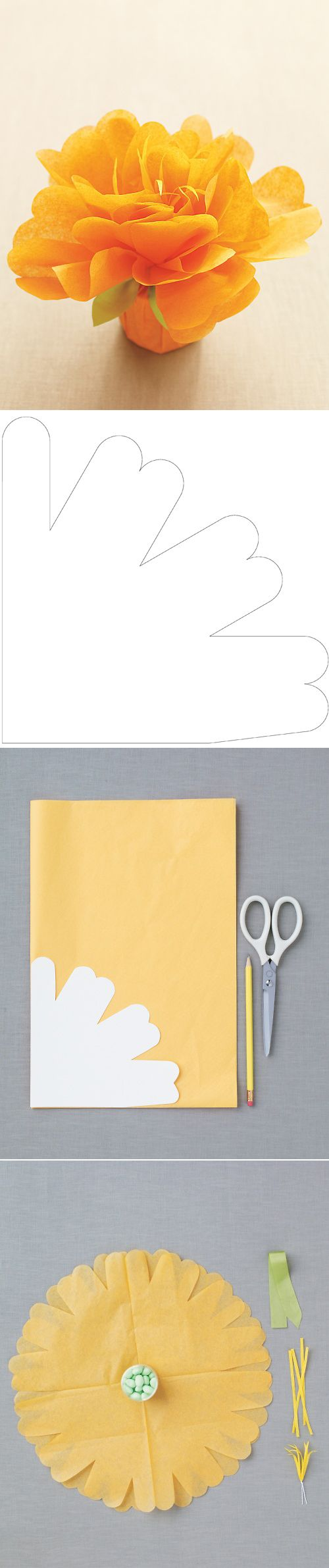 Tissue Paper Flower Favors Template Kids Party Ideas Pinterest