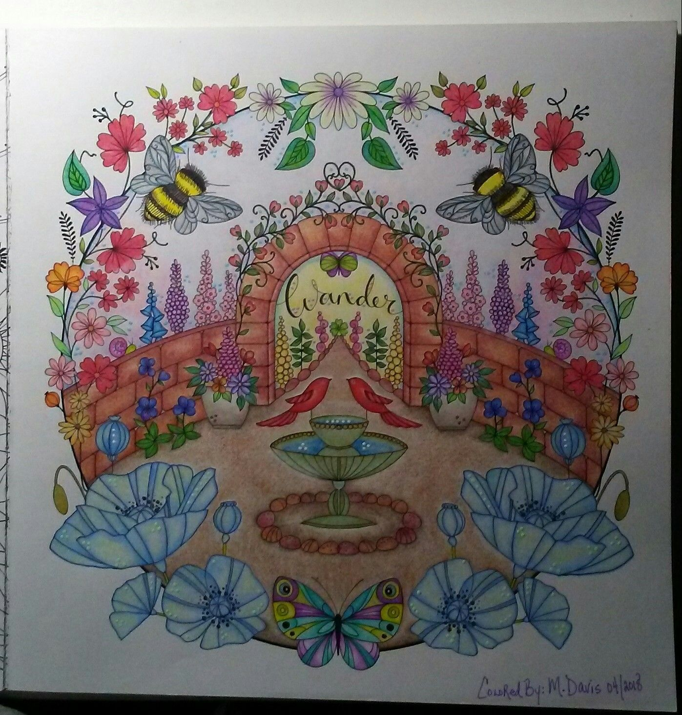 Eleri Fowler Joyous Blooms To Color Wander Garden Prismacolor Premier Adult Coloring