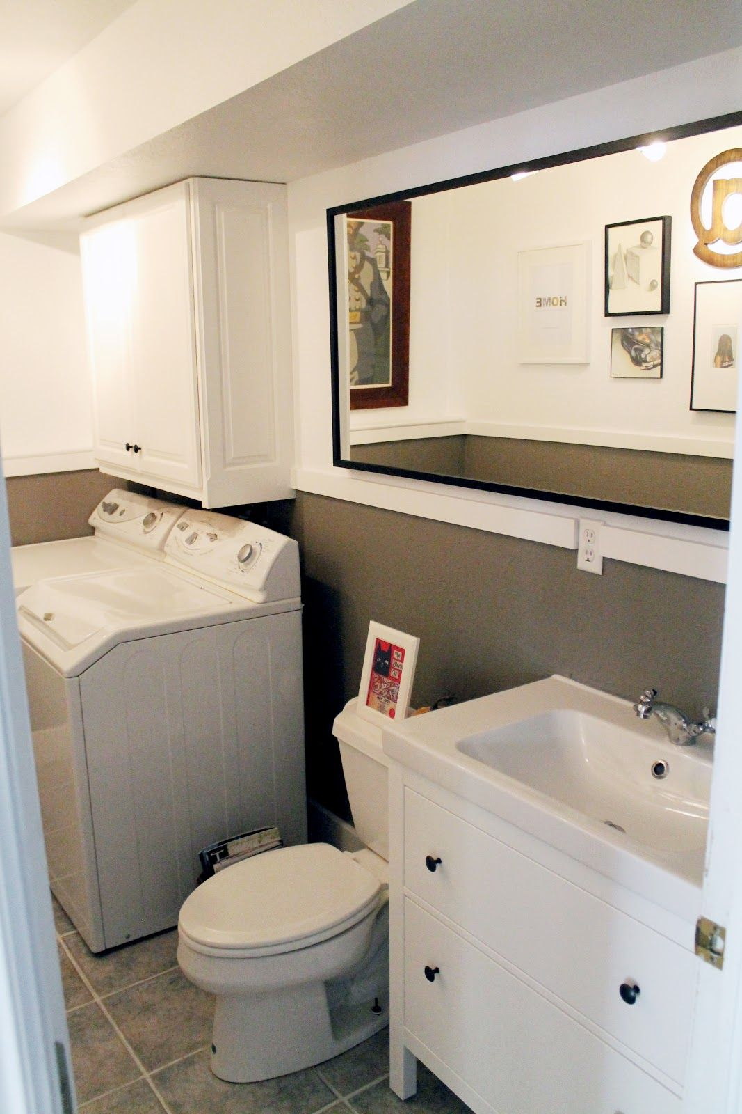 Basement Bathroom Laundry Room Combo. This Has All The Elements That We Need For Our Combo Im Still Not Sure If I Want A Front Load Or Top Load Though Front Load Would Be Nice To Have