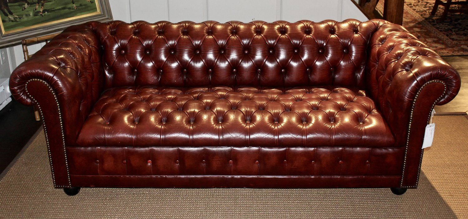 Vintage Chesterfield Sofa In Tufted Oxblood Leather Vintage Chesterfield Sofa Chesterfield Oxblood Leather