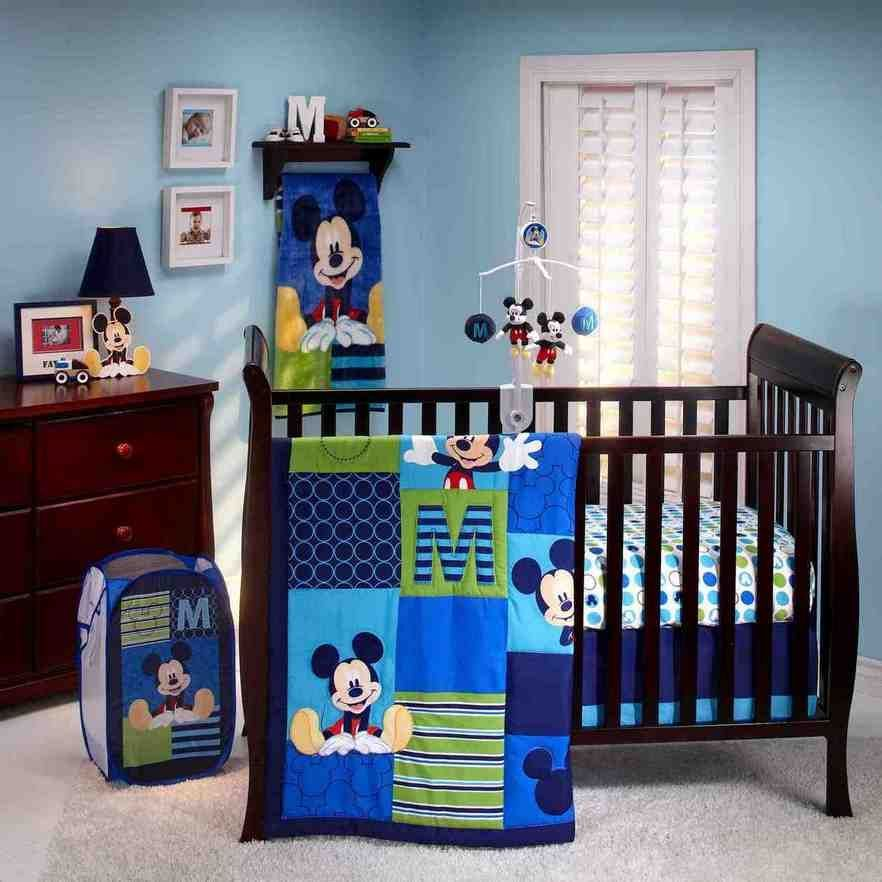 Mickey Mouse Bed Set With Images Baby Boy Room Nursery