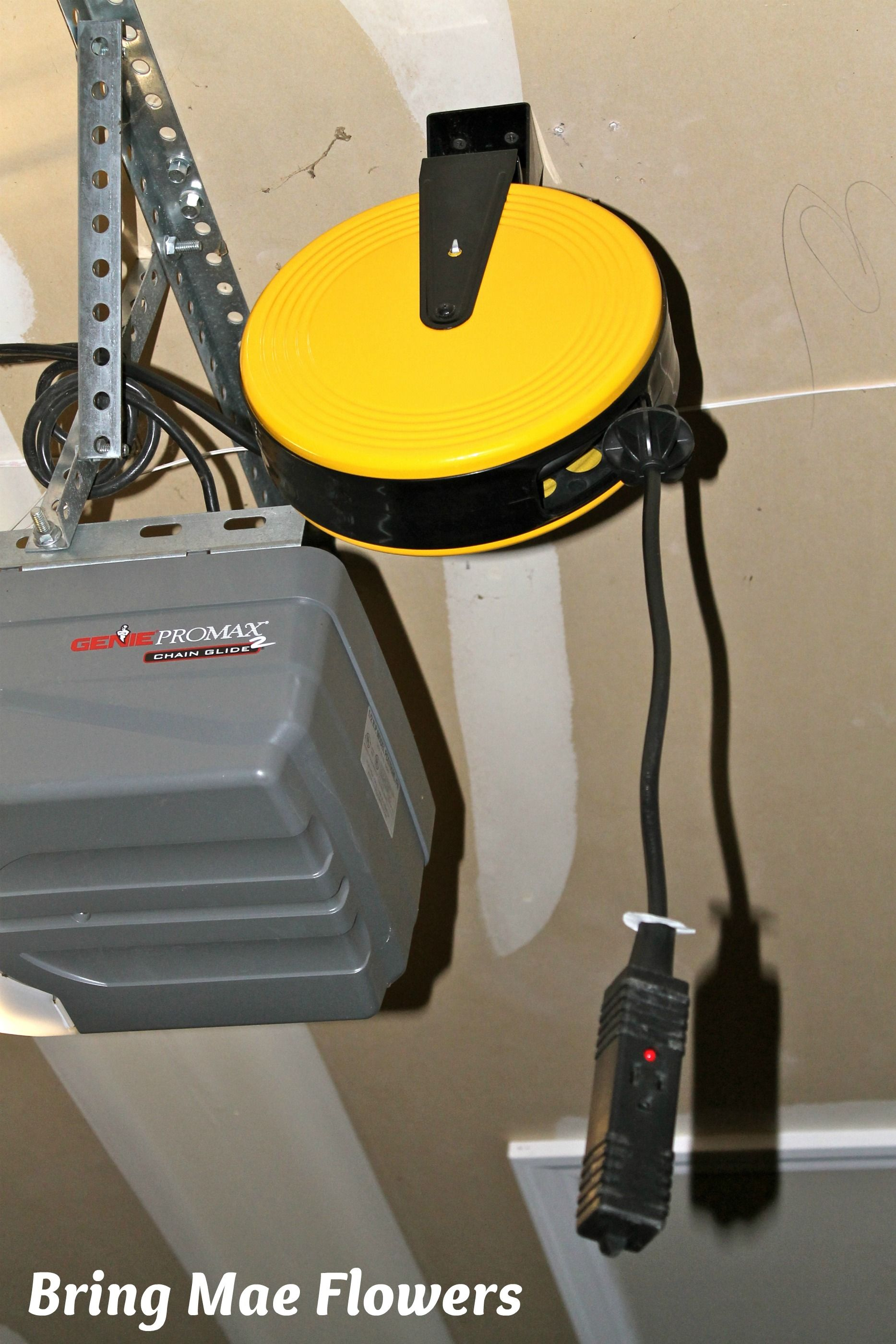 Retractable Extension Cord >> Today's favorite thing is… an overhead extension cord reel for use in the garage outlet on the ...
