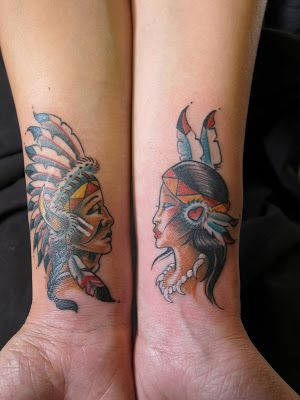 Young Native American Indian Couple Native Best Couple Tattoos