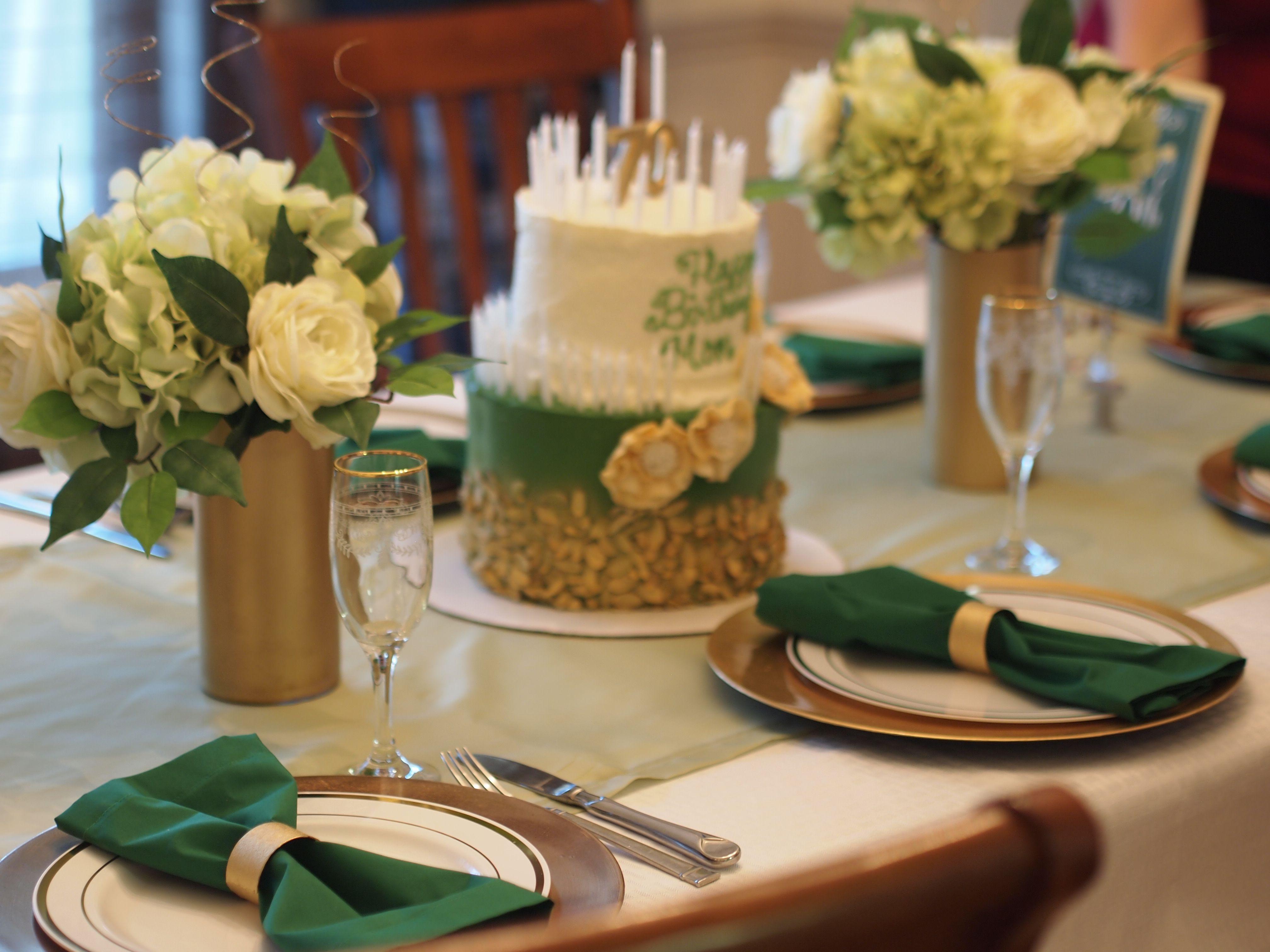 70th birthday table setting & 70th birthday table setting | Easy Peasy Celebrations - Crafts ...
