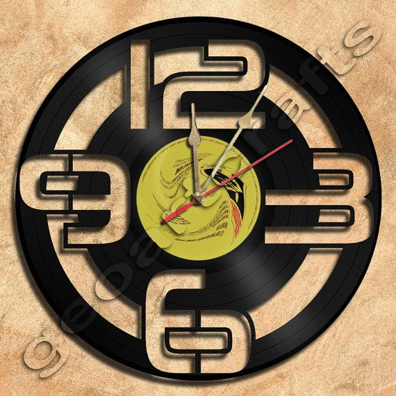 Wall+Clock+Vinyl+Record+Clock+Upcycled+Gift+Idea+by+geoartcrafts,+ ...