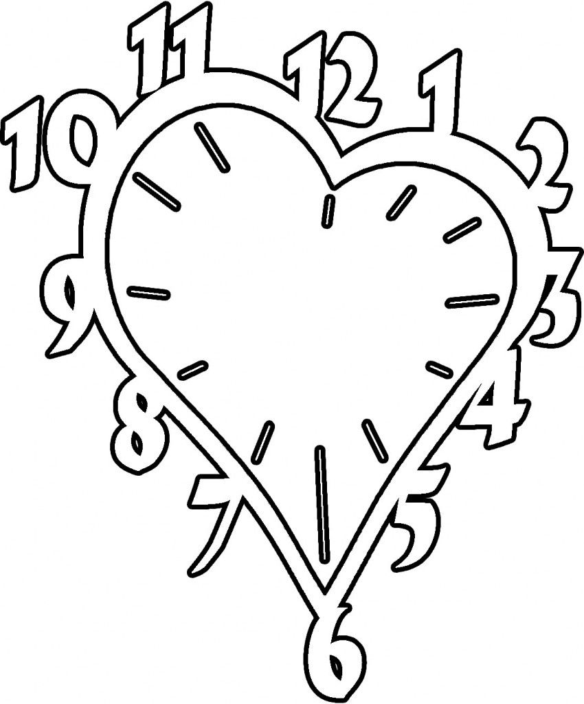 Free Printable Clock Coloring Pages For Kids | Crafts | Pinterest ...