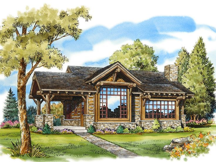 Cabin Plan 066h 0006 Craftsman Style House Plans Cottage House