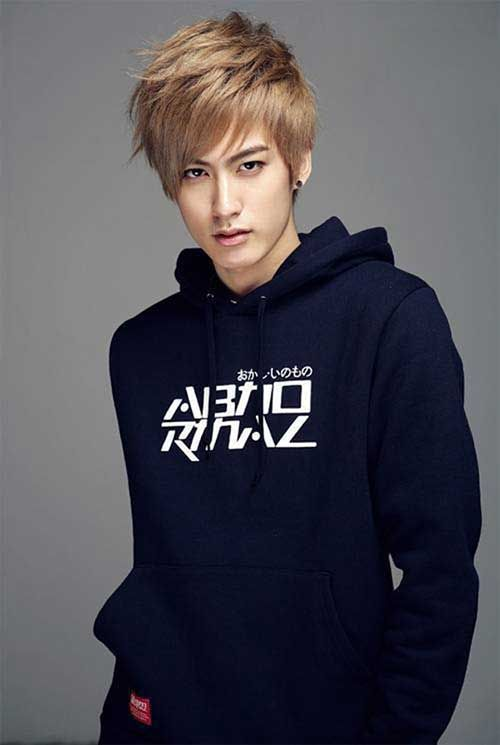 Korean Blonde Hairstyles For Men Jaehyo Block B Block B