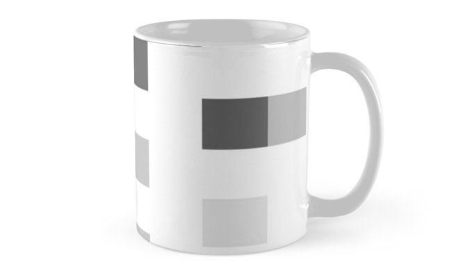 BUY ANY 2 & GET 15% OFF --- Gray Scale In Pixels Coffee Mug by ARTbyJWP (by-jwp) in Redbubble #redbubble #artbyjwp #mug #coffeemug #mugs #minimalist #pixels #gray #white