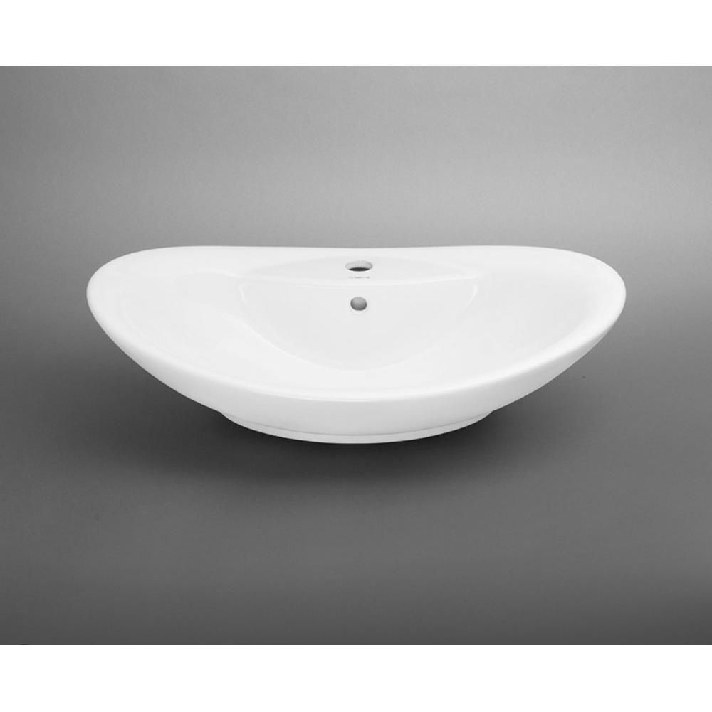 The Somerville Showroom   Ronbow   200223 WH   Oval Ceramic Vessel Bathroom  Sink In
