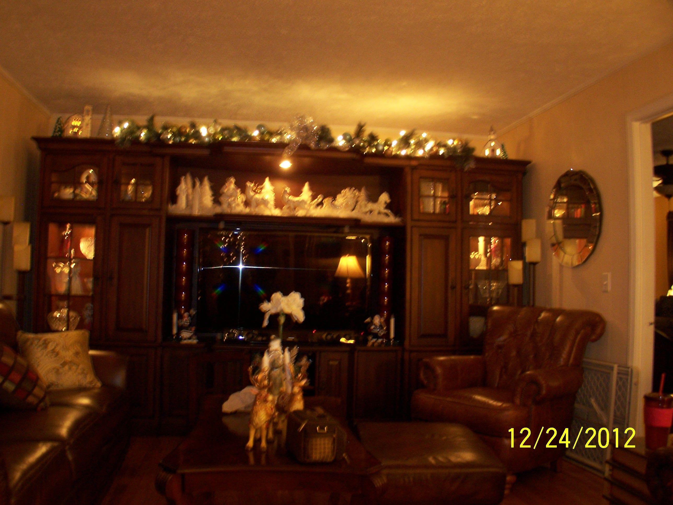 entertainment center @ Christmas   Christmas   Pinterest